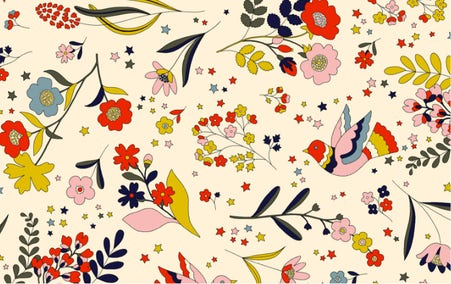Graphic floral print pattern