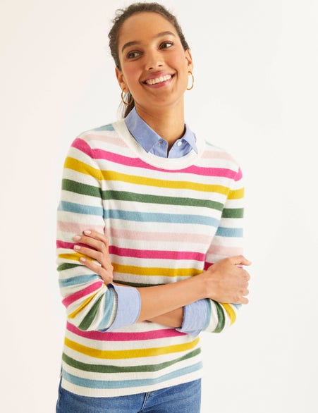 Striped Boden cashmere jumper