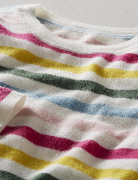 Striped cashmere jumper