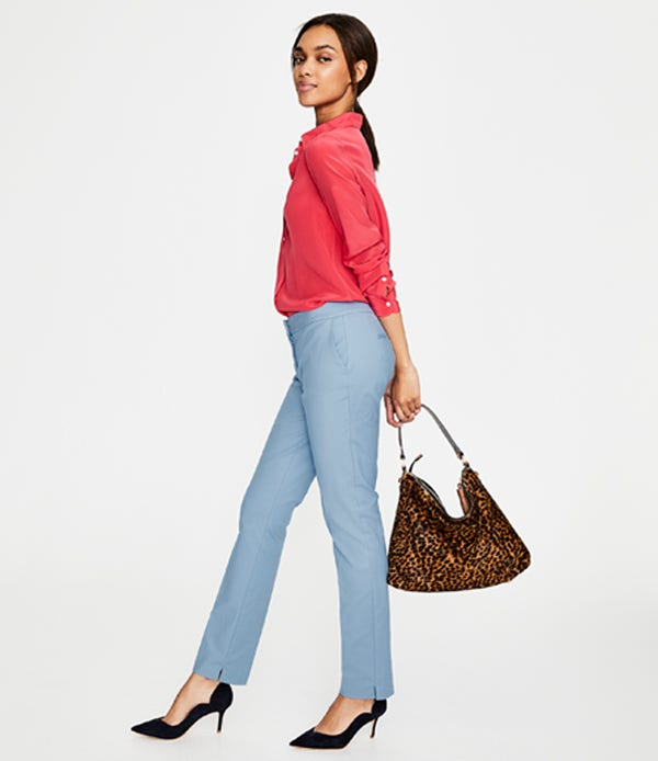 hazy blue classic trousers
